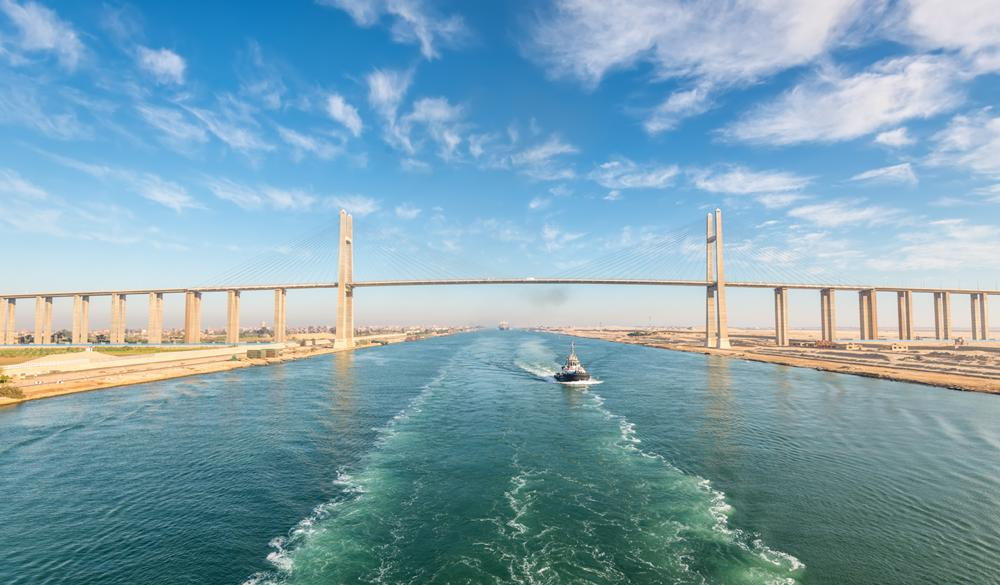 Suez Canal Transit - Overnight onboard
