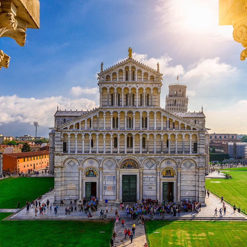 Cathedral and Baptistery in Pisa Italy