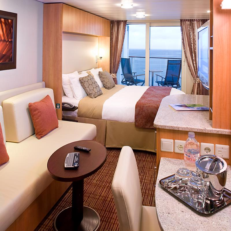 Deluxe Ocean View cabin with Veranda - Celebrity Constellation
