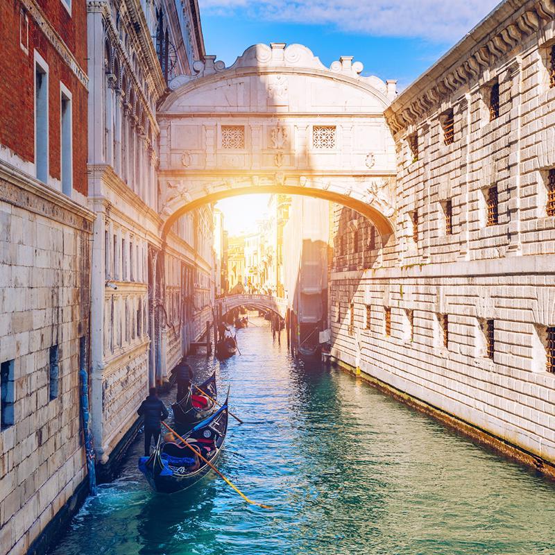 Bridge of Signs in Venice Italy