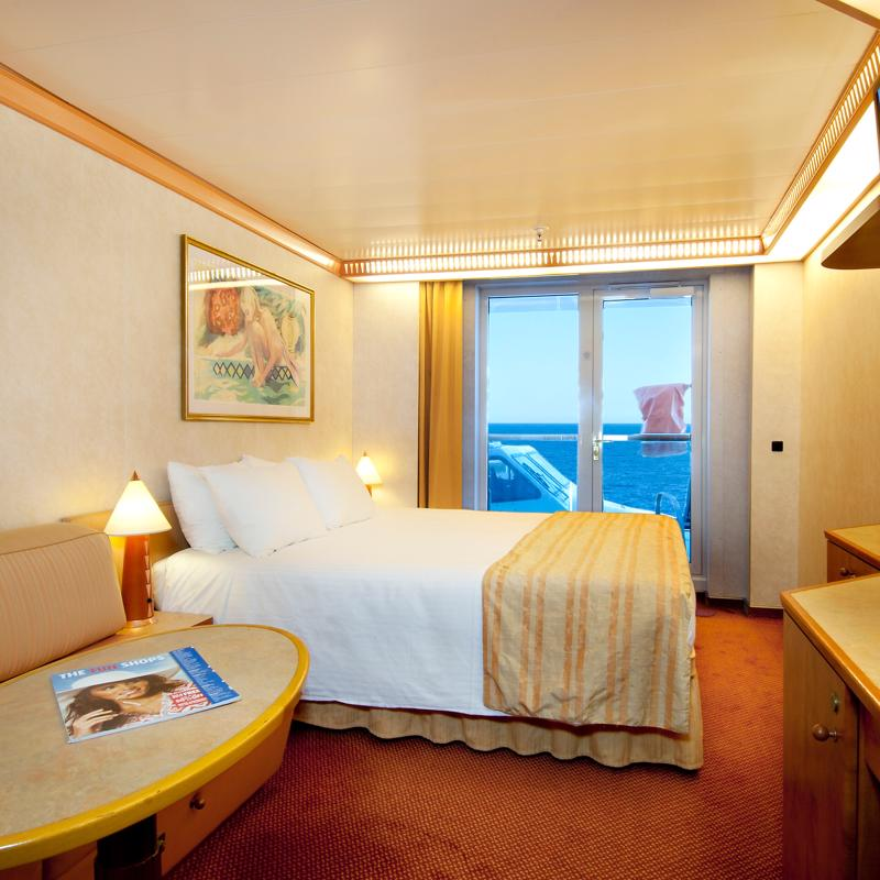 Aft-view Extended Balcony Cabin - Carnival Spirit