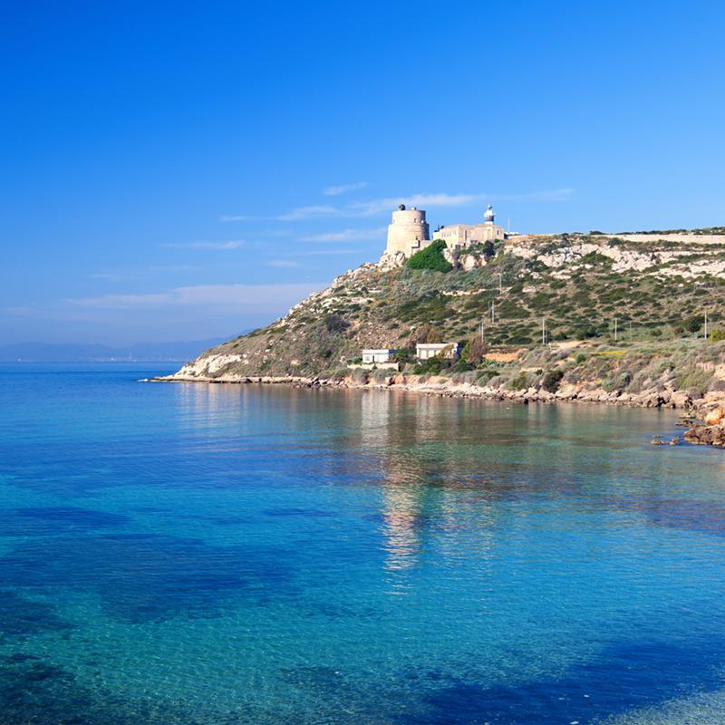Calamosca Beach Cagliari Sardinia Italy