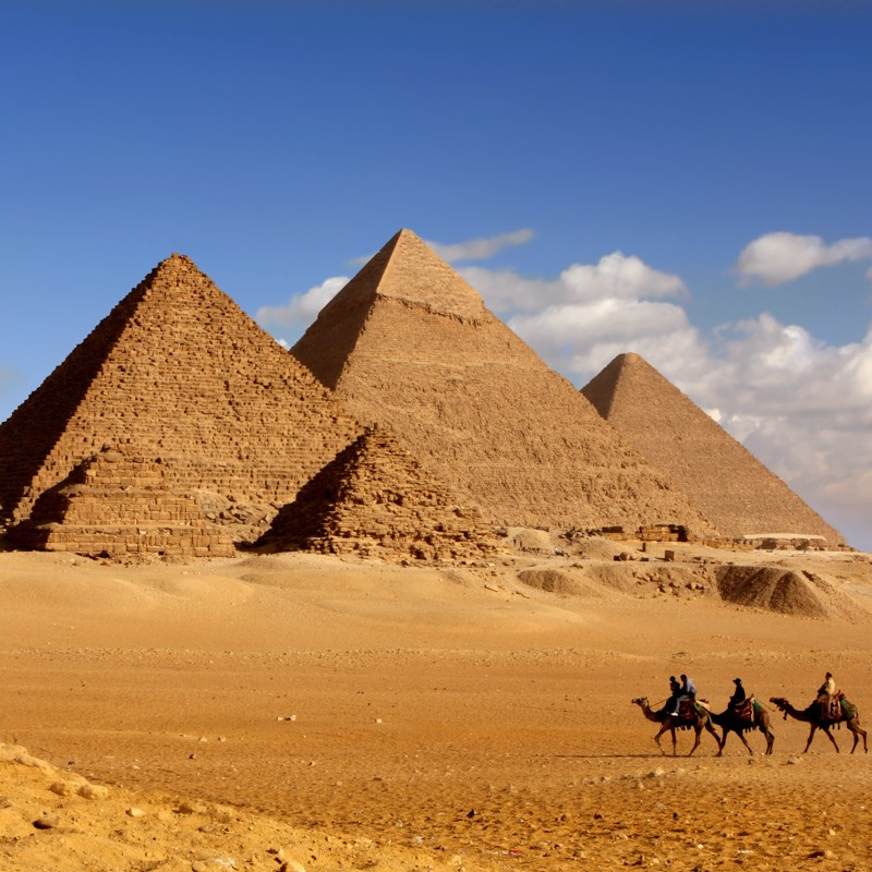 Great Pyramids of Giza in Cairo, Egypt