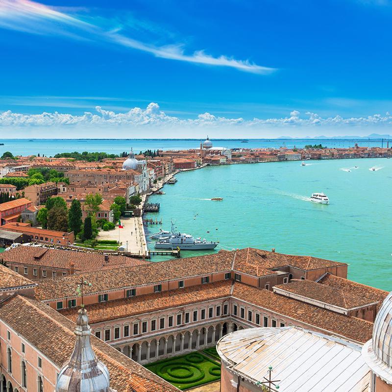Giudecca Island in Venice Italy