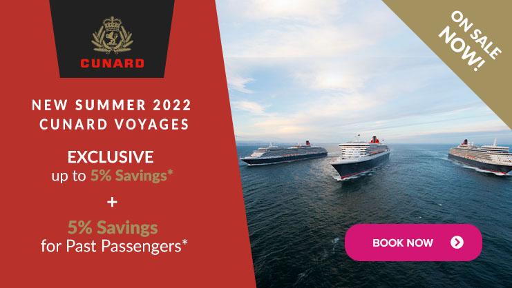 Cunard summer 2022 launch