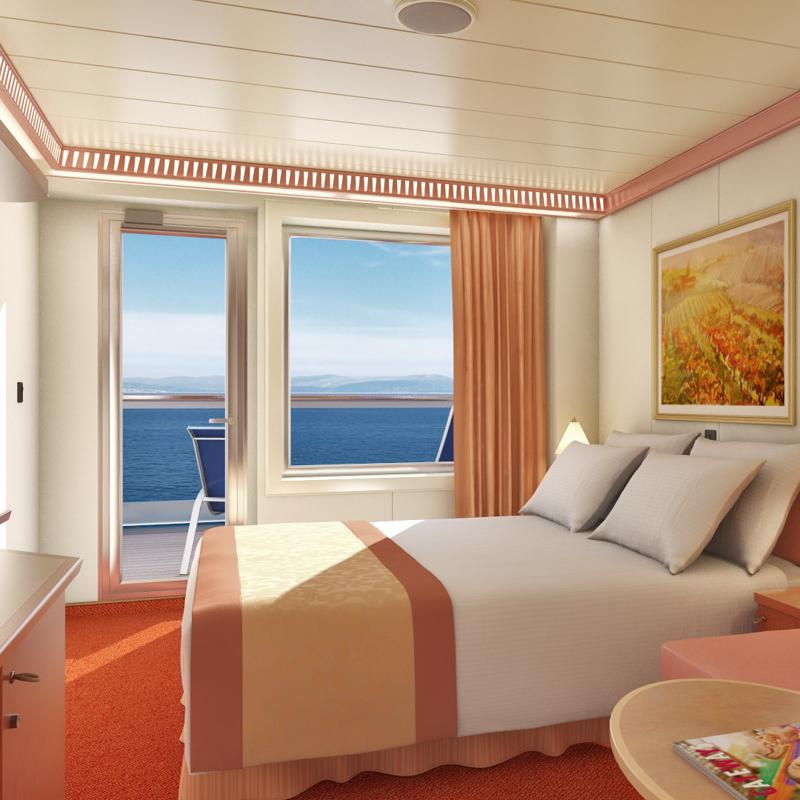 Aft-View Extended Balcony - Carnival Conquest