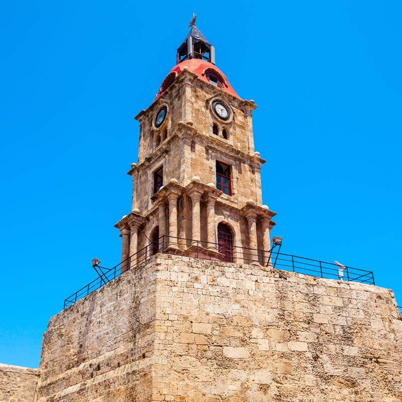 Roloi Clock Tower Rhodes Town Greece