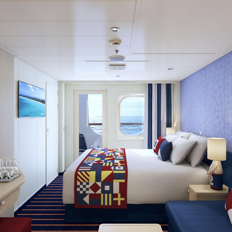 Aft view extended Balcony - Carnival Vista