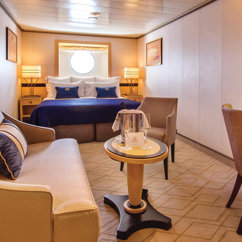 Oceanview cabin - Cunard Queen Mary 2