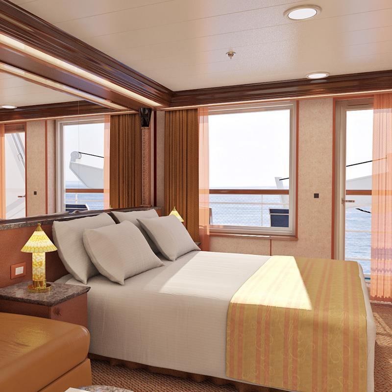 Junior Suite obstructed views - Carnival Inspiration