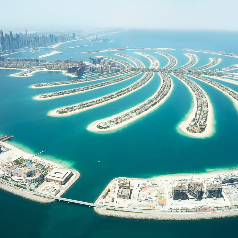 Palm Island in Dubai, UAE