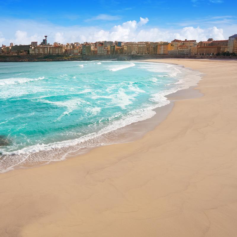 Riazor beach La Coruna Spain