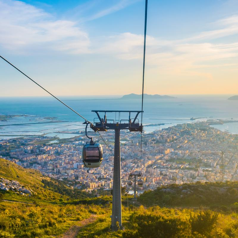 Erice Cable Car Trapani Sicily Italy