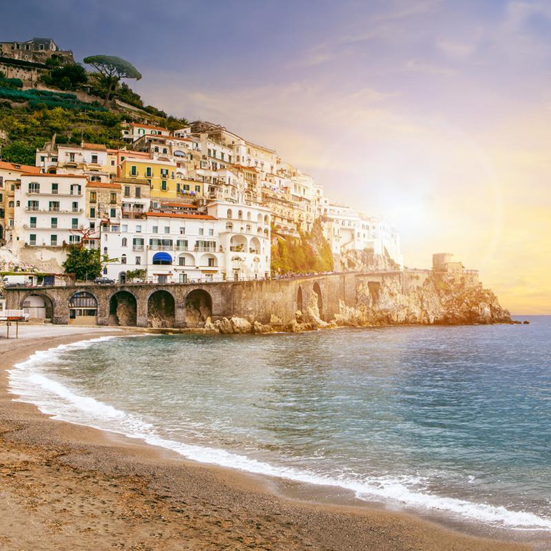 Positano Beach Sorrento Italy