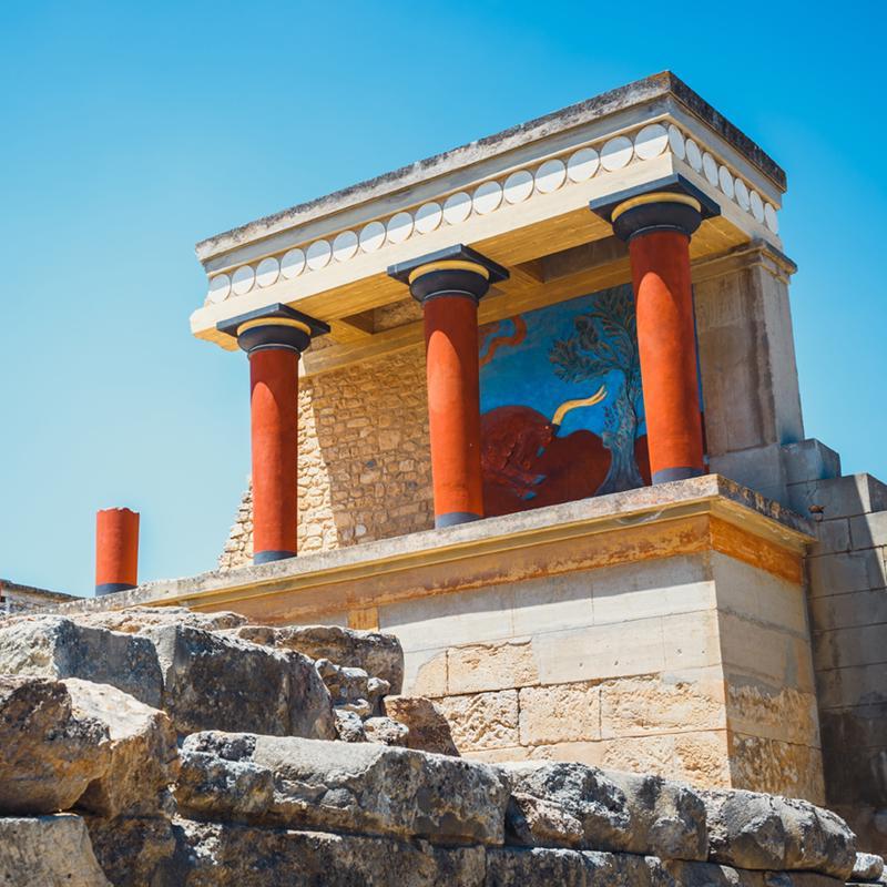 Palace of Knossos Heraklion Crete Greece