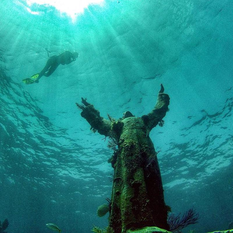 Christ of the Abyss portofino Italy