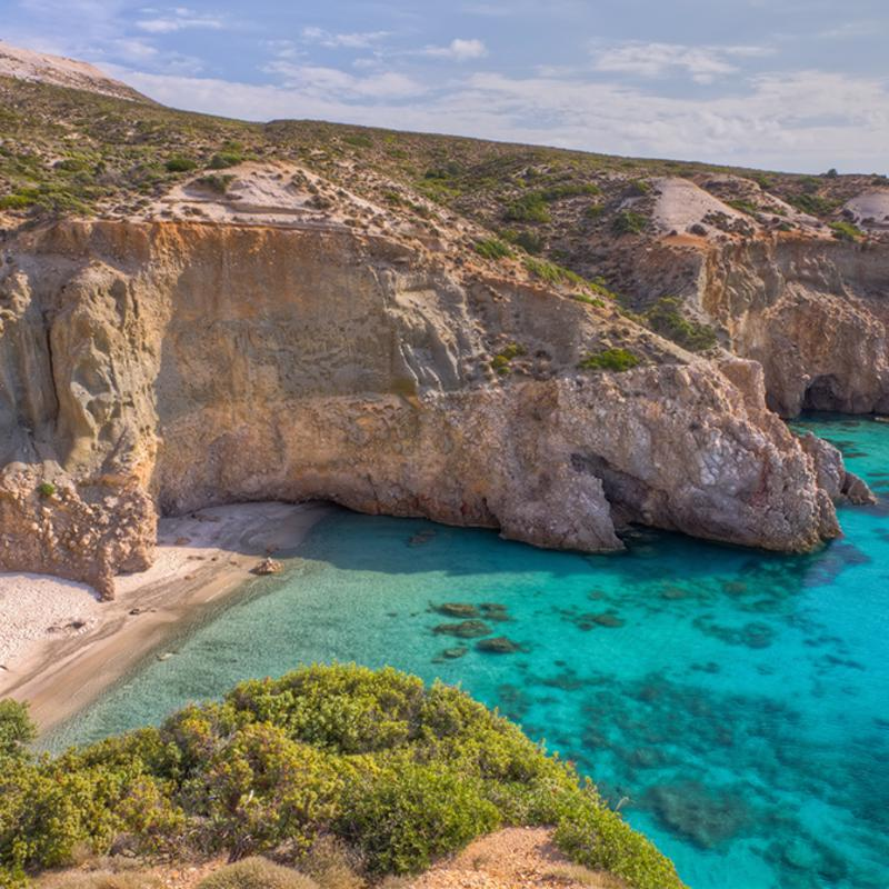 Tsigrado Beach Milos Greece