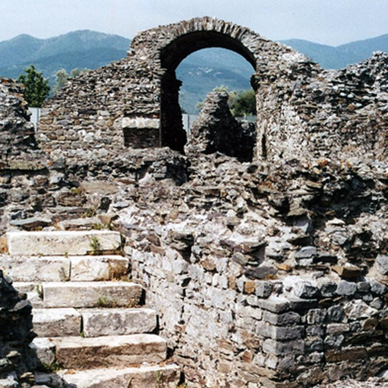 Roman Maphitheatre of Luni Marina di Carrara Italy