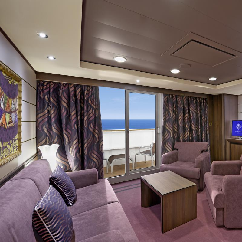 Aurea Suite with Panoramic Sealed Window - MSC Splendida
