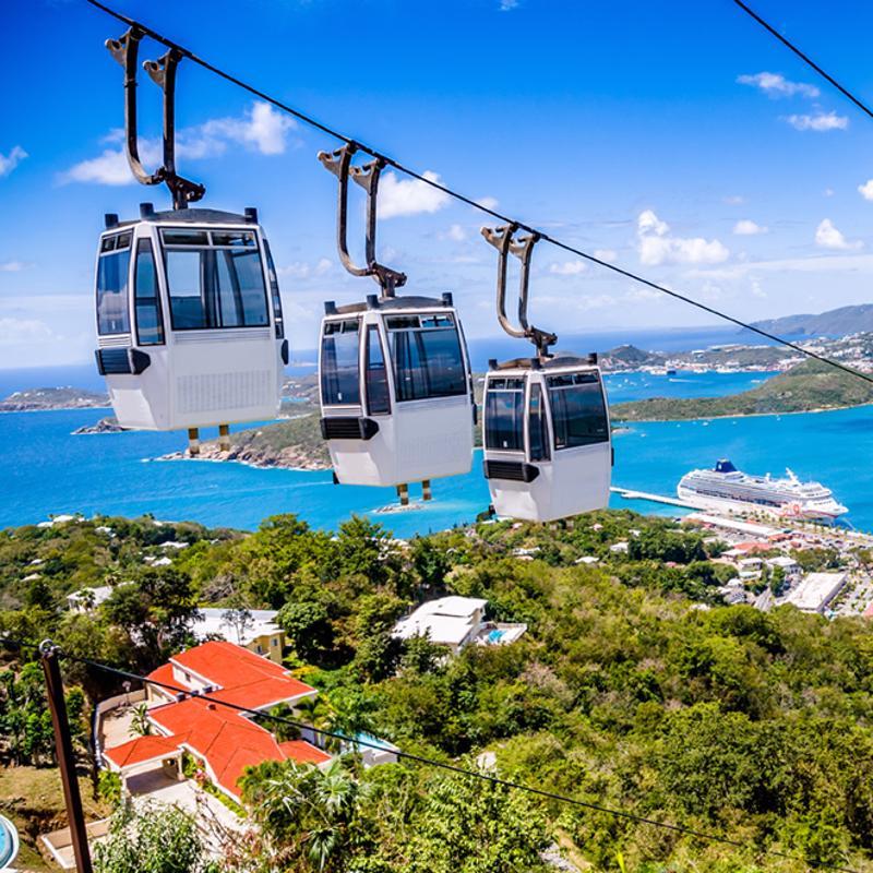 Charlote Amalie St Thomas United States Virgin Islands Skyride Aerial Tram
