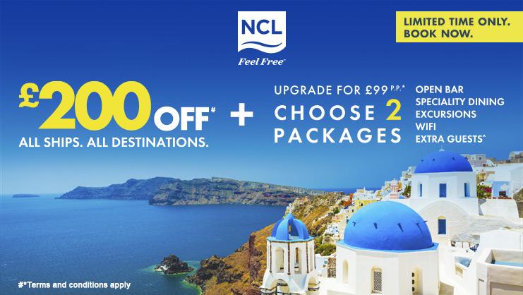 NCL Balcony Bonus Sale