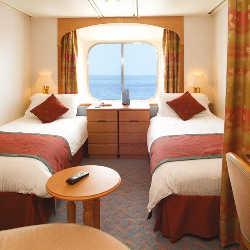 Larger Outside cabin with twin beds (convertible to queen size) - P&O Aurora