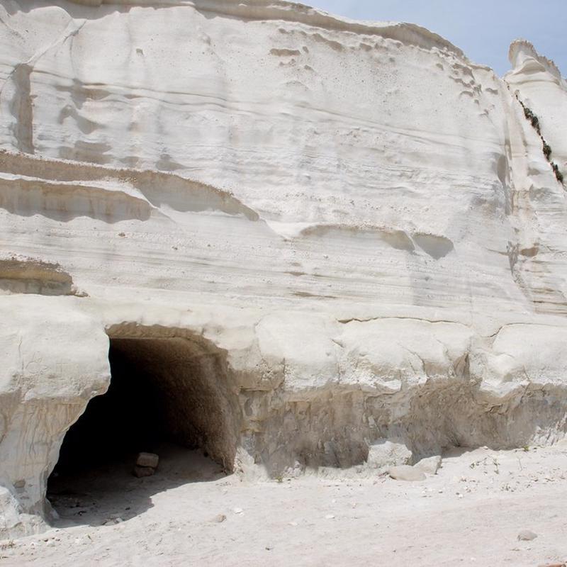 Catacombs of Milos Greece