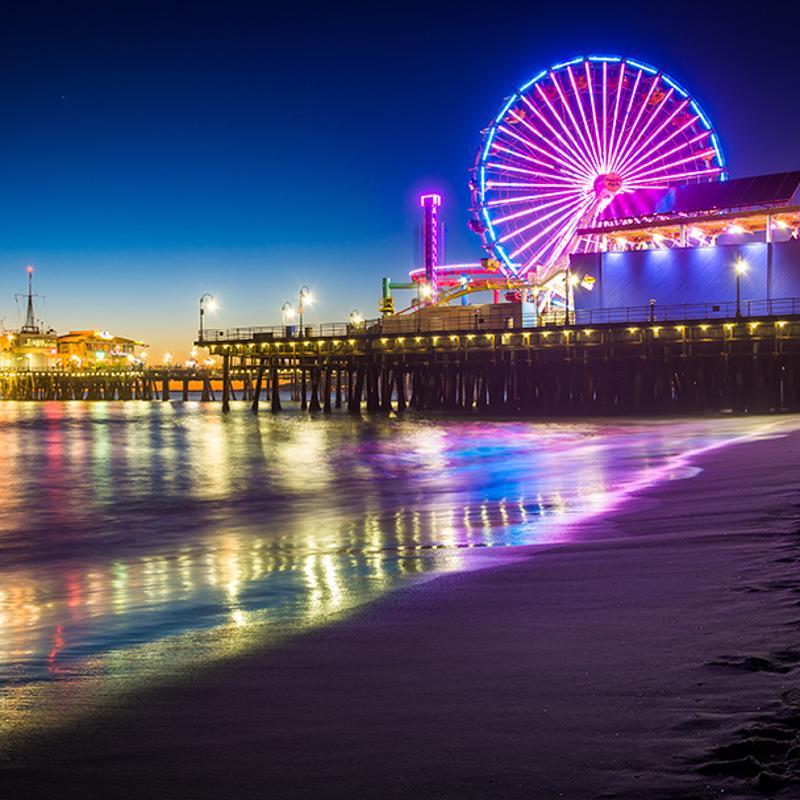 Santa Monica Pier Los Angeles USA
