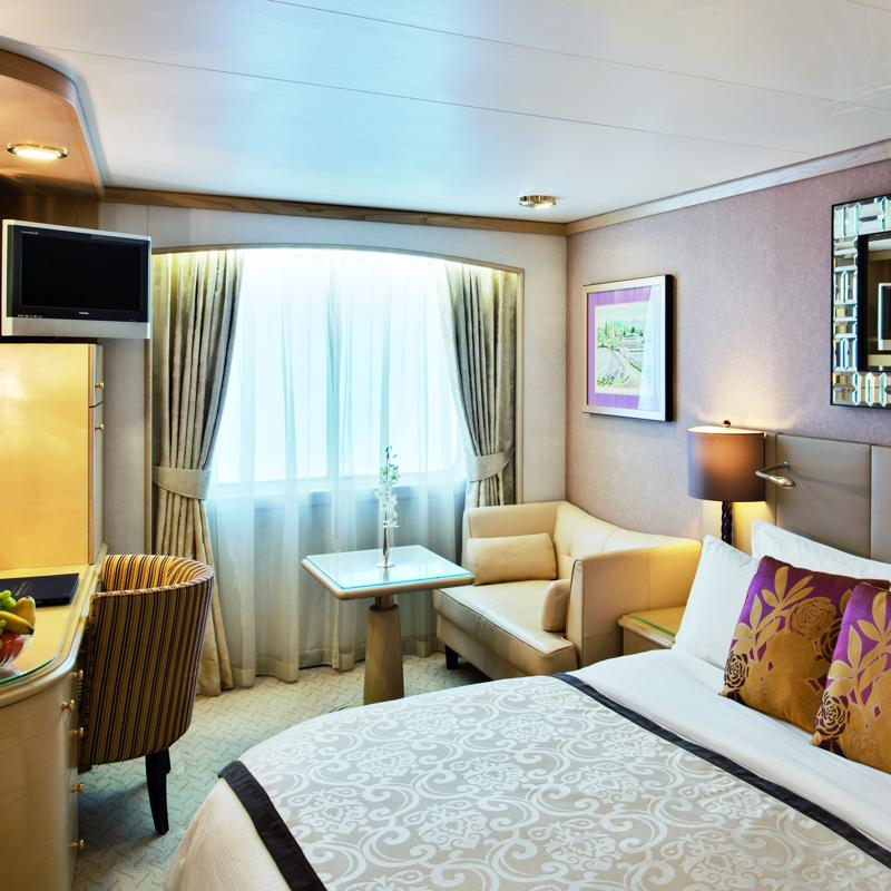 Deluxe cabin with Large Picture Window Limited View - Crystal Symphony