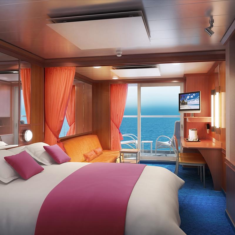 Aft-Facing Mini-Suite with Balcony-Norwegian Pearl