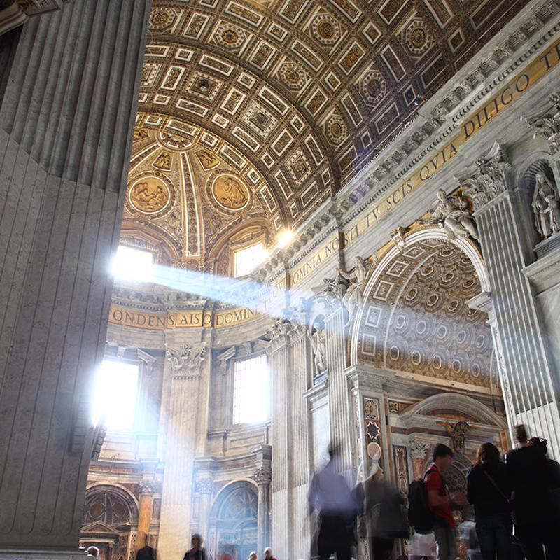 St. Peter's Basilica in Rome Italy