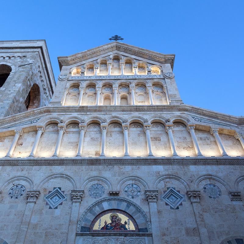 Cathedral of Saint Mary of the Assumption & Said Cecilia Cagliari Sardinia Italy