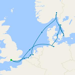 Norte de Europa desde Southampton