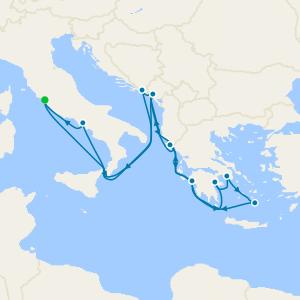 Mediterráneo desde Roma (Civitavecchia)