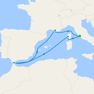 Méditerranée au départ de Civitavecchia, Rome