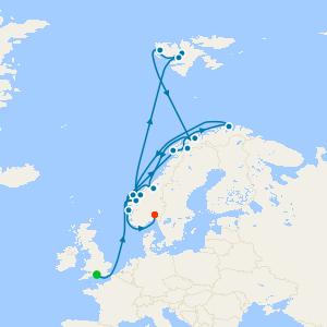 Southampton à Oslo