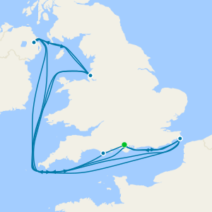 Iles Britanniques au départ de Southampton