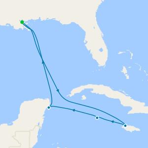 Caraïbes au départ de Nouvelle-Orléans