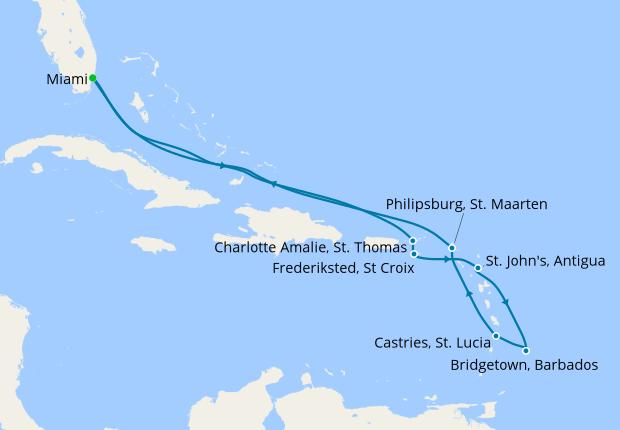 Southern Caribbean From Miami 4 November 2018 13 Nt