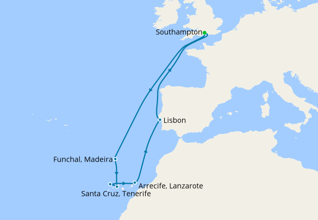 canaries iberia from southampton 3 december 2018 12 nt oceana