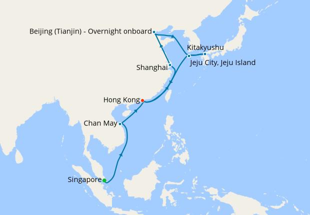 Singapore To Hong Kong 11 February 2019 23 Nt Queen Mary 2 Cunard Iglucruise
