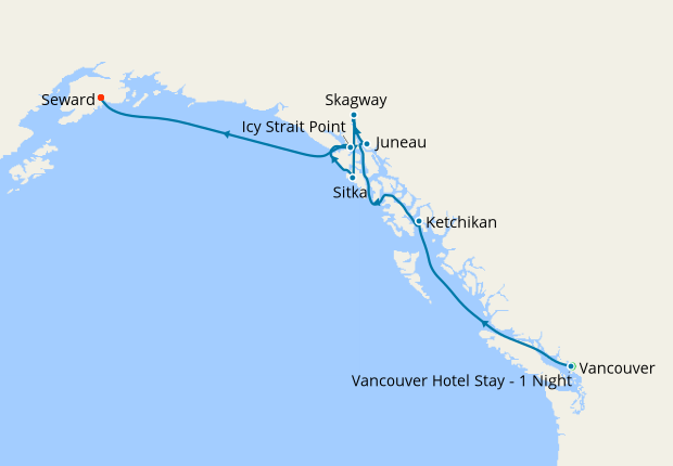 Alaska Adventure Voyage from Vancouver, 29 July 2019 | 10 Nt