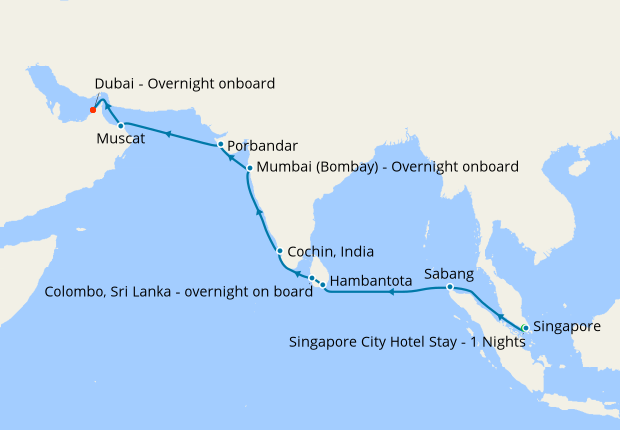 Sri Lanka India Odyssey From Singapore To Dubai 10 November 2019 19 Nights