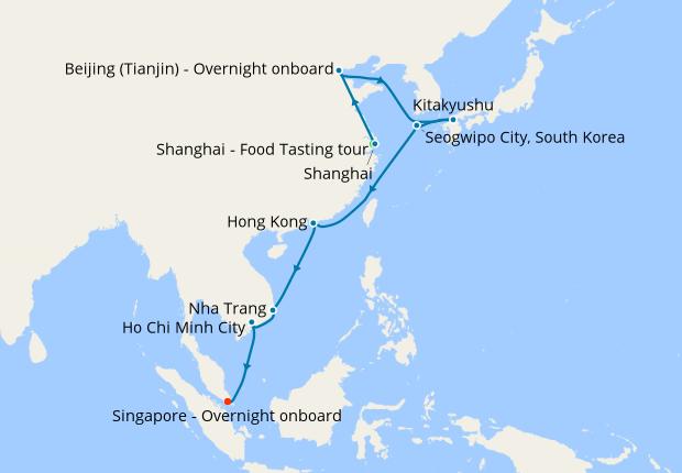 China, S.Korea & Vietnam with Shanghai Stay, 20 February ...