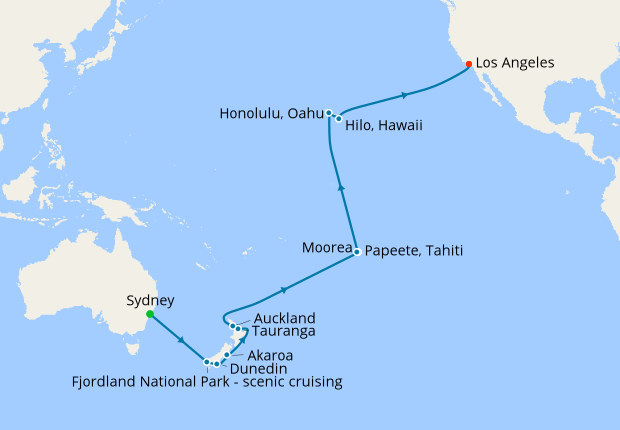 Hawaii, Tahiti & South Pacific Crossing, Golden Princess, 07 ... on map of hawaii, map of south pacific, map of spain, map of fiji, map of thailand, map of french polynesia, map of seychelles, map of costa rica, map of switzerland, map of bahamas, map of bali, map of brazil, map of moorea, map of carribean, map of pacific ocean, map of austrailia, map of kwajalein, map of bora bora, map of malaysia, map of new zealand,