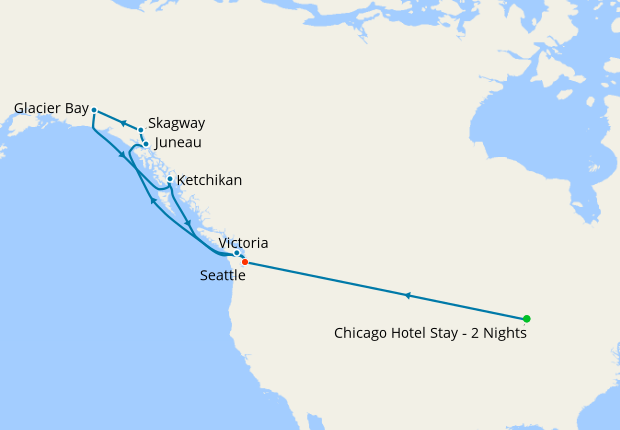 AMTRAK - Chicago to Seattle