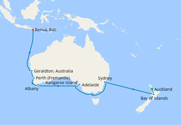 Australia New Zealand From Auckland To Bali 16 February 2019 21 Nights