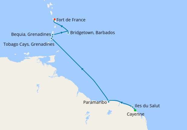 Sailing the Orinoco from Cayenne, 18 December 2018 | 11 Nt | Le