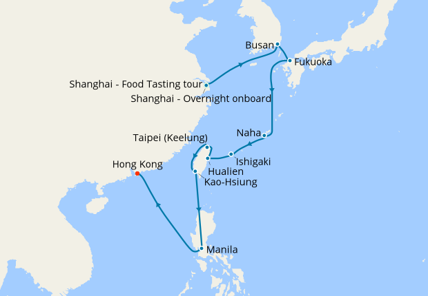 Shanghai Stay An Taiwan To Hong Kong 28 February 2019 18 Nt Ms Westerdam Holland America Line Iglucruise