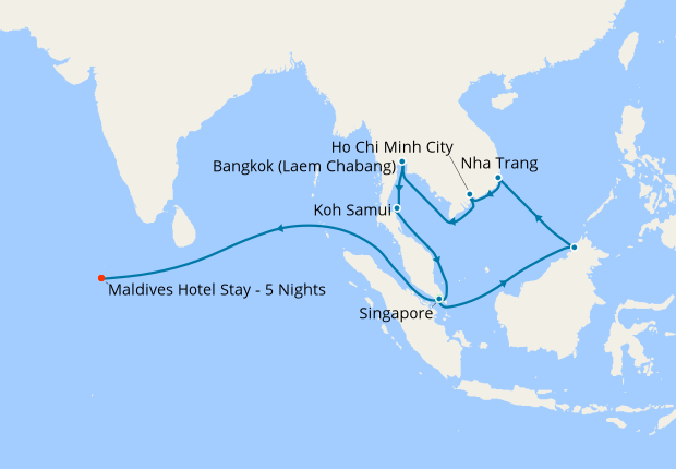 Maldives On Map Of Asia.Southeast Asia Maldives From Singapore With Stays 5 December 2018